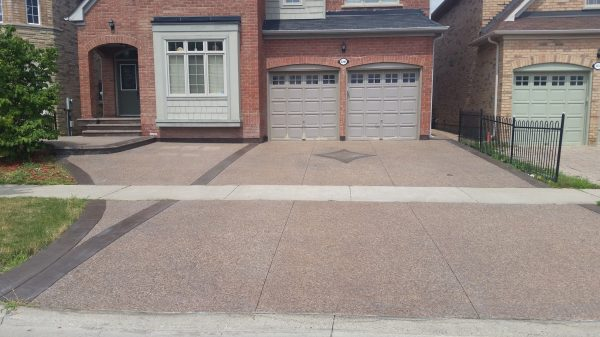 Concrete Trimmings Ltd. - Combination Exposed Aggregate Concrete and Stamped Concrete